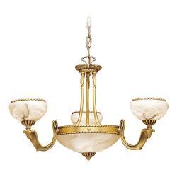 Cobra Lámpara Oro Brillante y Satinado Alabastro blanco