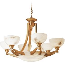 Blanes Lamp Patine rojizo Alabaster white