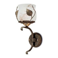 Hiedra Wall Lamp Gold viejo/Oro Alabaster white