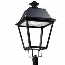 Andalucia Header Streetlight LED Solar 20 x LED Osram 65W Black forja acabado al horno
