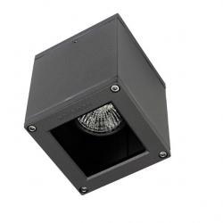 Afrodita lâmpada do teto Ao ar Livre 9x9x11cm GU10 Cinza Urbano