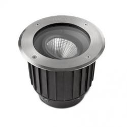Gea Recessed suelo Round Stainless Steel 1xLED Cree 9W 3000K