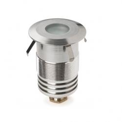 Gea Empotrable suelo LED Cree 1W 3000K 94lm acero inoxidable