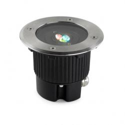Gea Empotrable suelo Circular 3 LED Cree 7,5W RGBEASY+