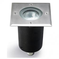 Gea Recessed suelo Square steel 1xGU10 MAX 50W