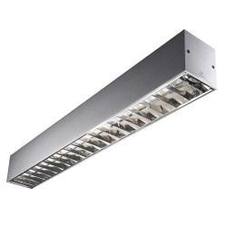 Infinite Lámpara Colgante 2 x TL5 G5/54W Difusor policarbonato 120cm gris