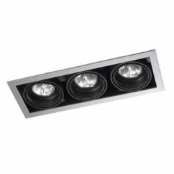 Multidir Downlight triple rectangular QR-CBC51 GU5.3 Grey