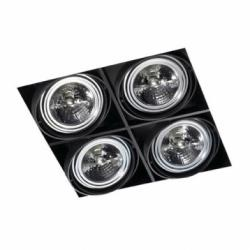 Multidir Trimless Downlight quadruple Square QR-111 G53 Black