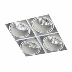 Multidir Trimless Downlight quádruplo Quadrada QR-CBC51 GU5.3 branco