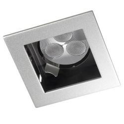 Mini Downlight Cuadrado con Cuerpo Redondo QPAR 16 GU10 gris