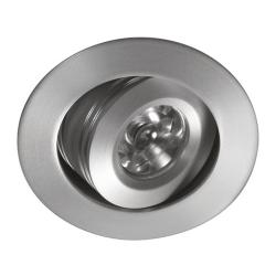 Ledio Downlight Orientable para powerled Aluminio Cepillado luz blanca /calida
