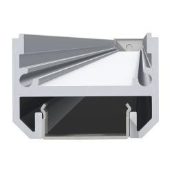 Lineal Perfil de 2 metros con Difusor metalizado Aluminio Anodizado