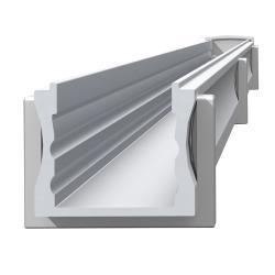 Lineal Perfil de 2 mètres 1,8cm avec Diffuseur matizado Aluminium Anodisé