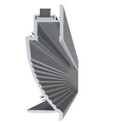 Lineal Perfil de 2 metros 2,2cm sin Difusor Aluminio Anodizado