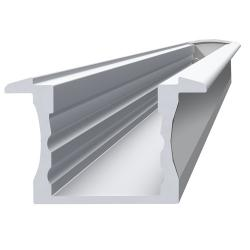 Lineal Perfil de 2 metros 2,5cm sin Difusor Aluminio Anodizado