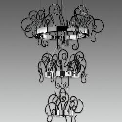 Aspid S35 + S65 + S95 Pendant Lamp 40x35W GU10 Glass