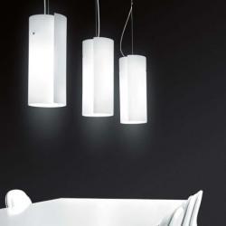 Diane S Pendant Lamp C/1 lamps Pendant Lamps chromed descentrado 1x100W E27 white