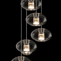 Fairy SG R5 Pendant Lamp geoid five Pendant Lamps spiral Glass/Chrome