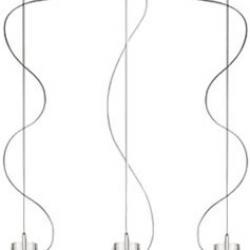 Kon C/3 Pendant Lamp triple descentrada 3x40W E14 Glass/Chrome