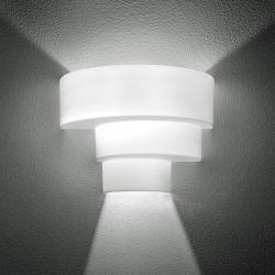 Loop P Wall Lamp / DX Wall Lamp 1x150W E27 white Shiny