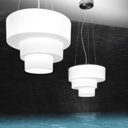 Loop S Pendant Lamp 1x200W R7s white Shiny