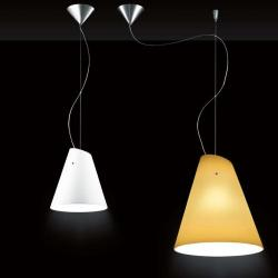 Micene S25 Pendant Lamp 1x100W + 1x20W E27 white Satin