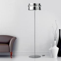 Aro TR lámpara of Floor Lamp E27 Chrome/Vidro CRIST.chromed