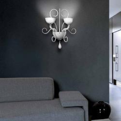 Bolero P2 Wall Lamp Chrome white Liso