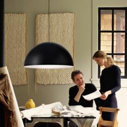 Bow S lamp Pendant Lamp Black/white