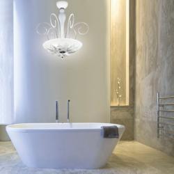 Orleans S 50 Pendant Lamp white Glass