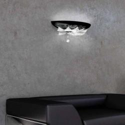 Orleans P Wall Lamp white Glass