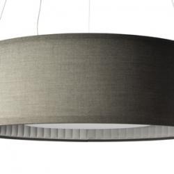 Silenzio Lámpara Colgante tela ø90 gris claro
