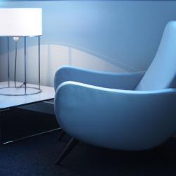 2098 T30 Lampada da tavolo Nichel Paralume Lisa Beige