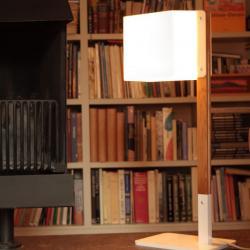 Lighthouse T Lampada da tavolo bianco/Legno