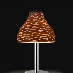 Lucca T Lampada da tavolo 54cm Cromo/Wengué