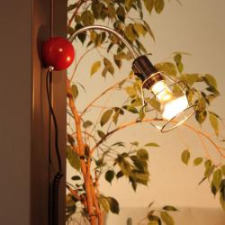 Magnetic Lampada Pie/Lampada da tavolo/Applique Magnética Rosso/Cromo