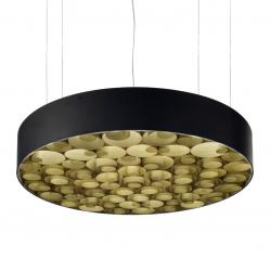Spiro large Pendant Lamp dimmable Outdoor Black