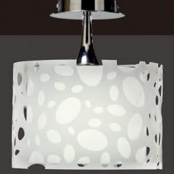 Moon Lamp semiceiling lamp Chrome/white 1L