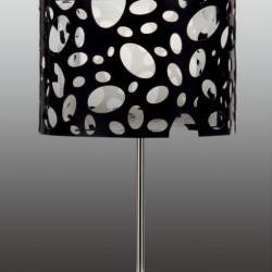 Moon Table Lamp Chrome/white + Black 1L