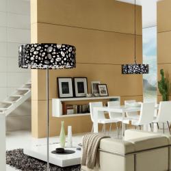 Moon lámpara of Floor Lamp Chrome/white + Black 4L