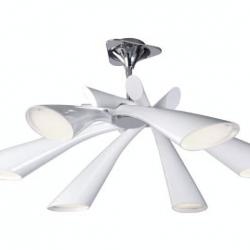 Pop Lamp plafón/Semiceiling lamp Lacquered white 6L
