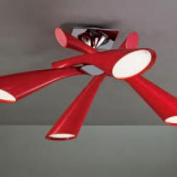 Pop Lamp plafón/Semiceiling lamp Lacquered net 4L