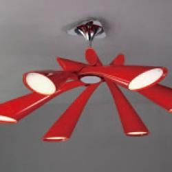 Pop Lamp plafón/Semiceiling lamp Lacquered net 6L