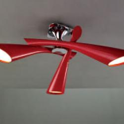 Pop Lamp plafón/Semiceiling lamp Lacquered net 3L