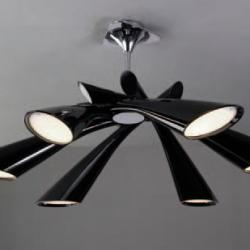 Pop Lamp plafón/Semiceiling lamp Lacquered Black 6L