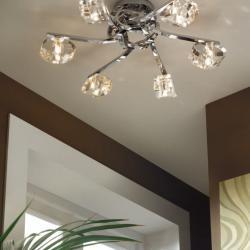 Alfa ceiling lamp Chrome 6L