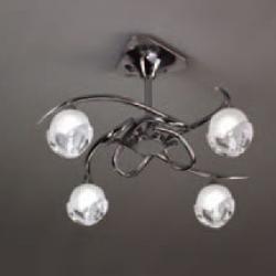 Bali Lâmpada Semilâmpada do teto Cromo 4L E14