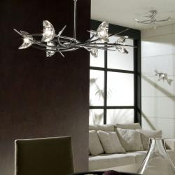 Eclipse Pendant Lamp Chrome 6L