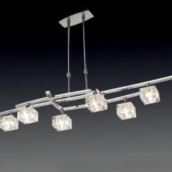 Zen Lámpara Colgante Cromo 8L