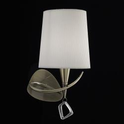 Mara Wall Lamp 15cm E14 20w leather white